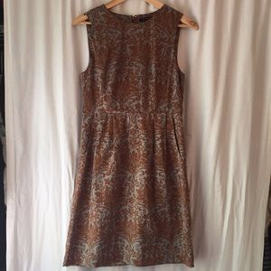Banana Republic brown and blue floral print dress
